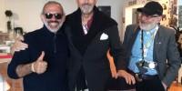 Ruggiero Di Benedetto con Giovanni Gastel e Maurizio Rebuzzini
