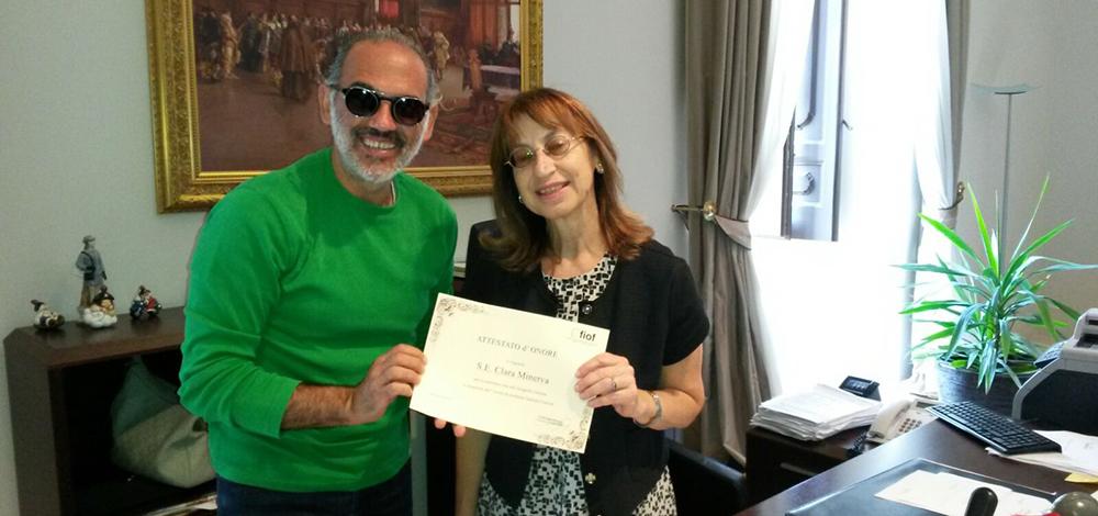 Il Fiof premia il Prefetto Clara Minerva