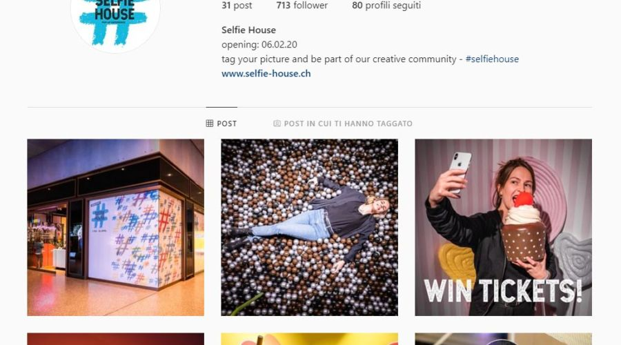 """Selfie House, il primo """"museo"""" per farsi i selfie a Zurigo."""