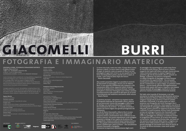 Giacomelli / Burri al MAXXI di Senigallia