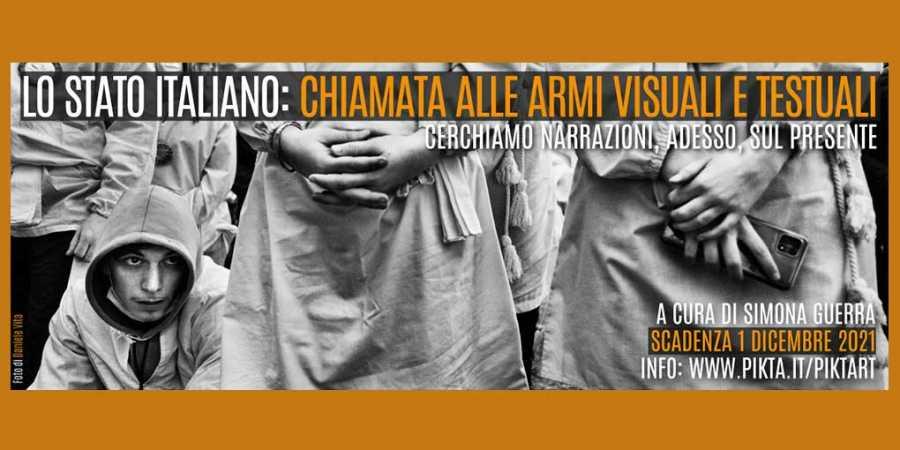 Lo stato italiano: chiamata alle armi visuali e testuali.